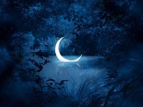 убывающую луну